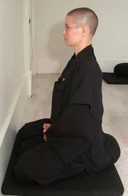 Sitting in zazen