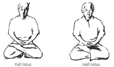Full and half-lotus posture