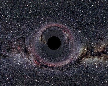 Image of a black hole